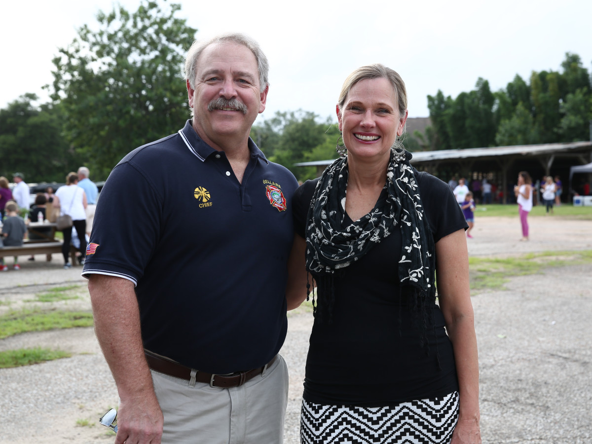 News, Shelby, Evelyn's Park Groundbreaking, june 2015, Fire Chief of Bellaire Darryl Anderson- Jane Anderson