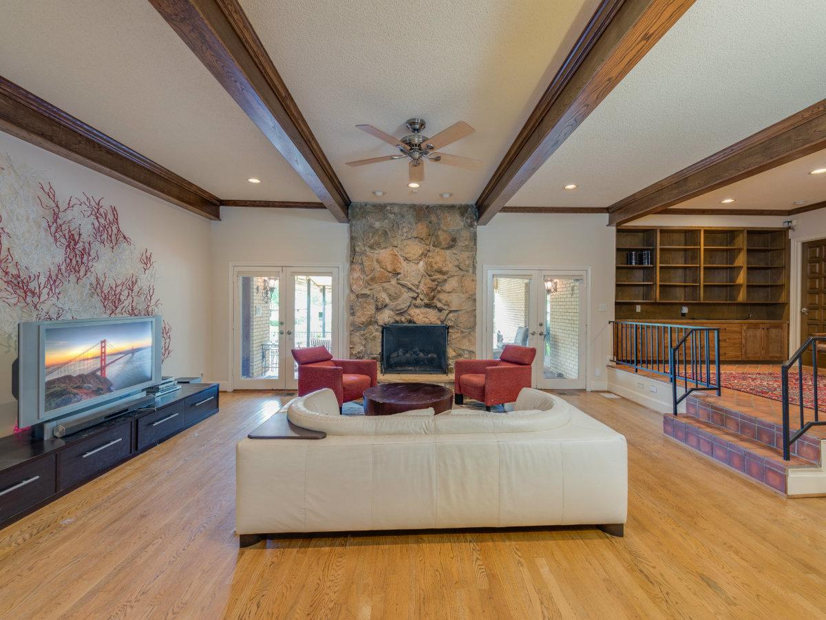 Living room at 4224 Briar Creek in Dallas