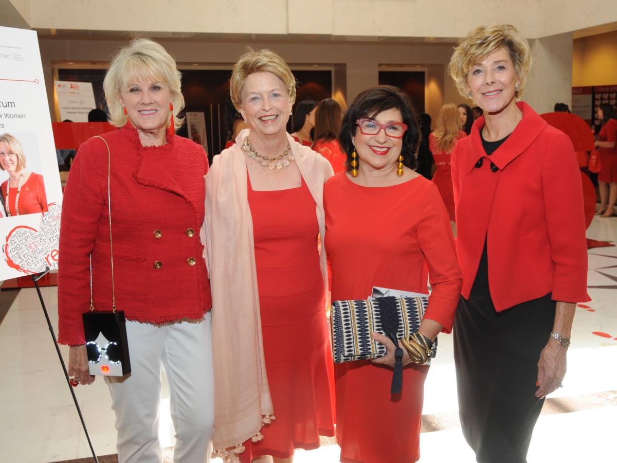 Go Red for Women luncheon, Liz Jameson, Diane McClymonds, Roz Pactor, Leila Gilbert