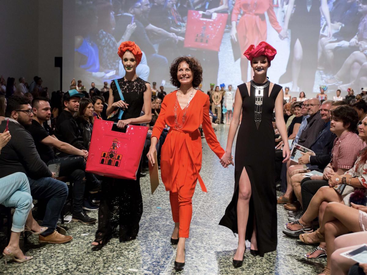 Houston, MFAH Fashion Fusion 2017, May 2017, Silvia Otaola with models