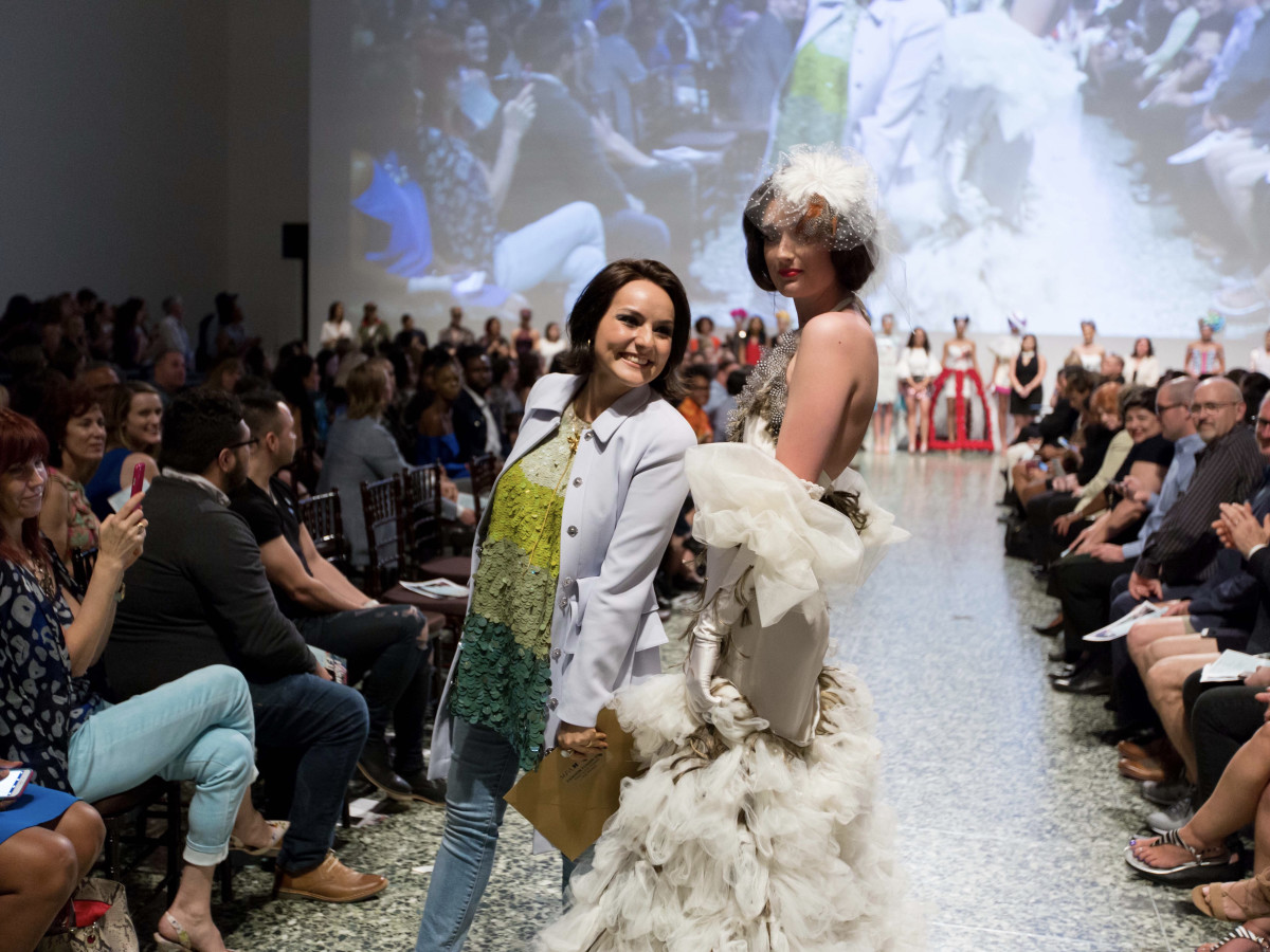Houston, MFAH Fashion Fusion 2017, May 2017, Luisa Nadarajah with model