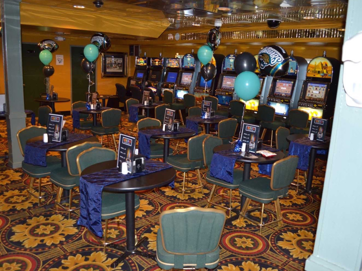Jacks or Better gambling boat interior casino