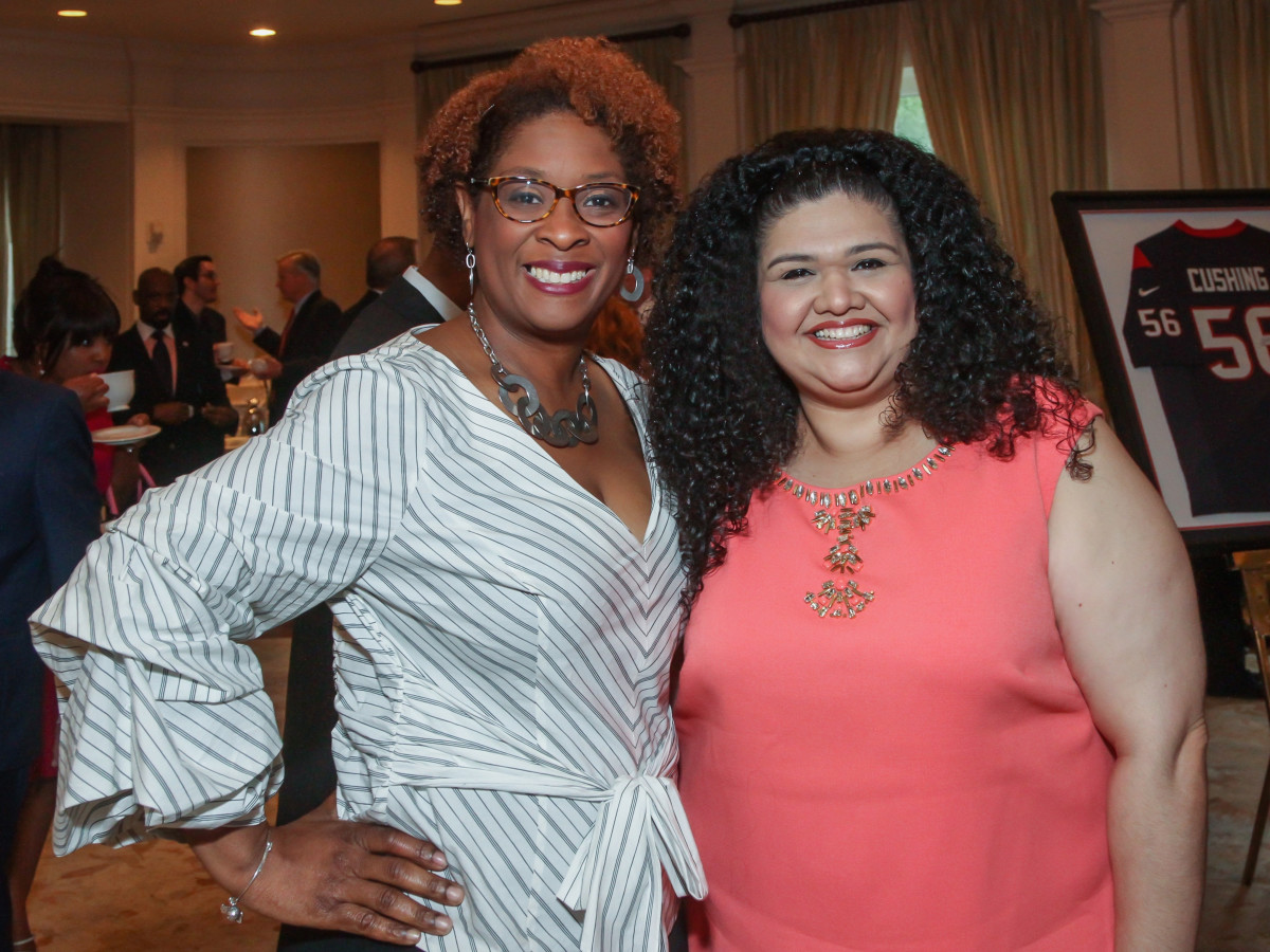 Yoland Green Barnes and Laura Mayorga/Mayors Literacy Breakfast