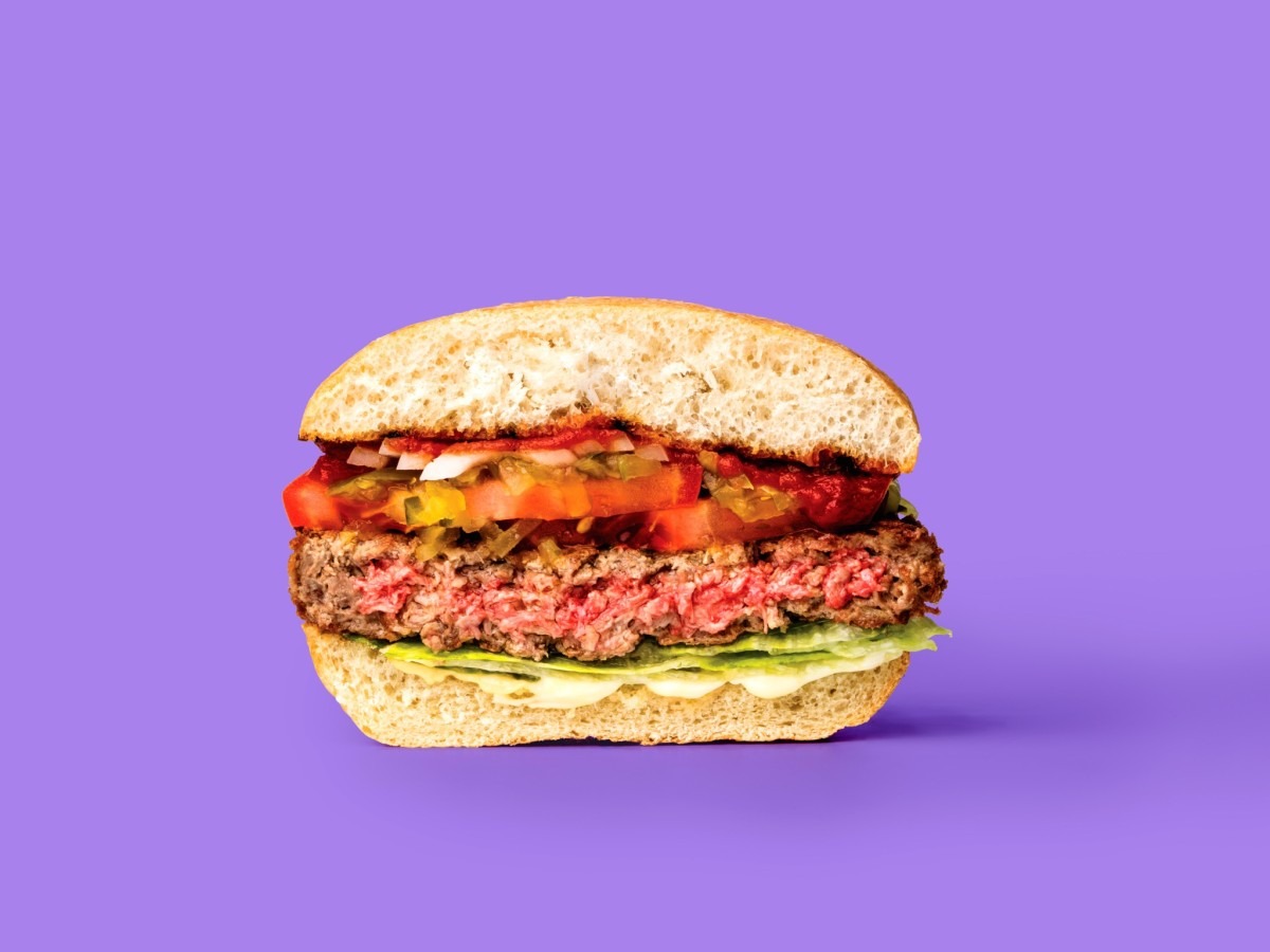 Impossible Burger half