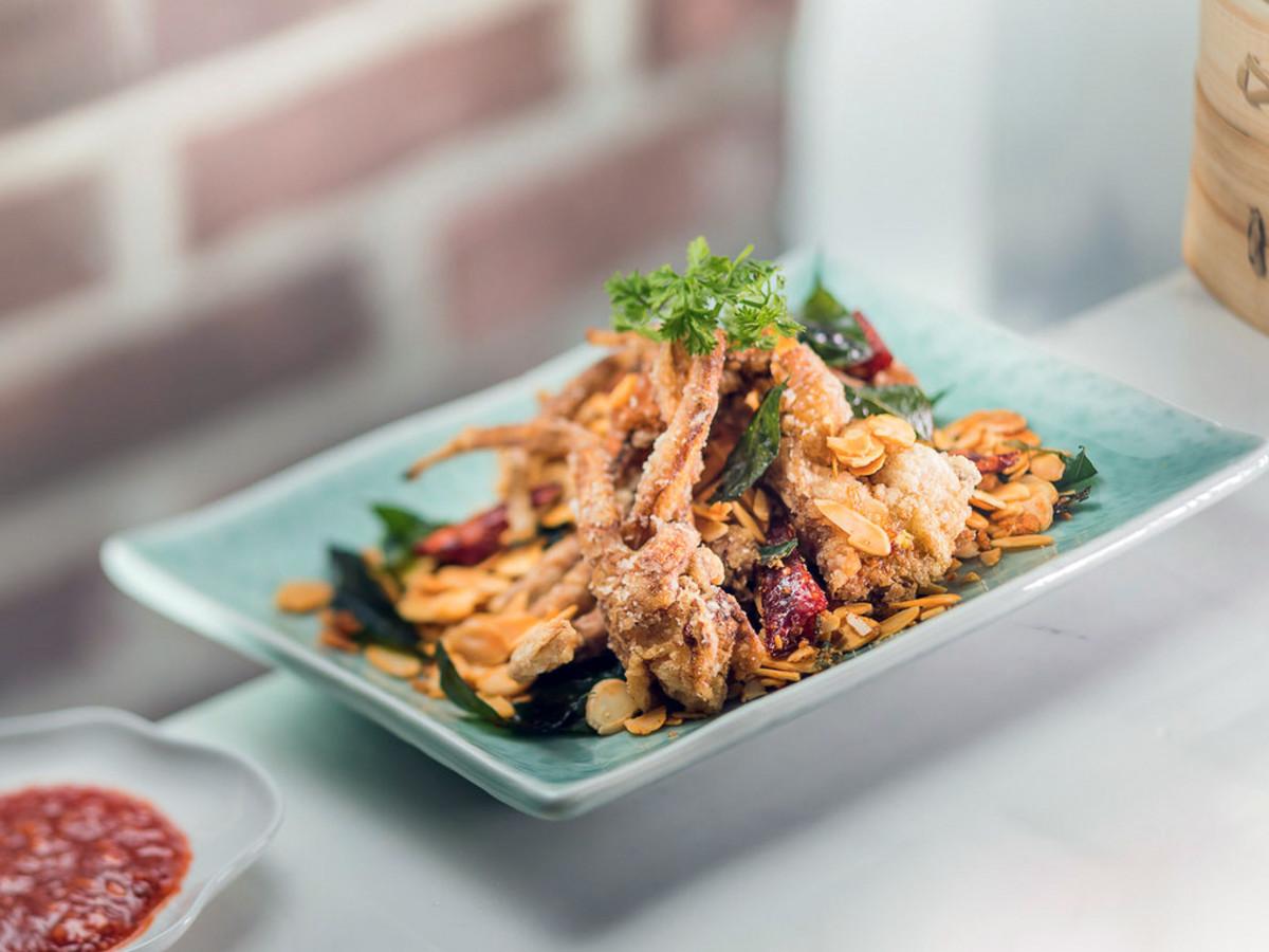 Houston, soft shell crab dishes, June 2017, Yauatcha
