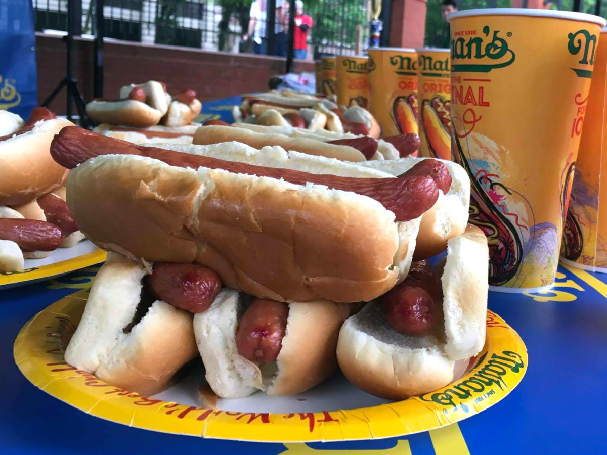 Houston, Nathans hot dog eating contest, July 2017