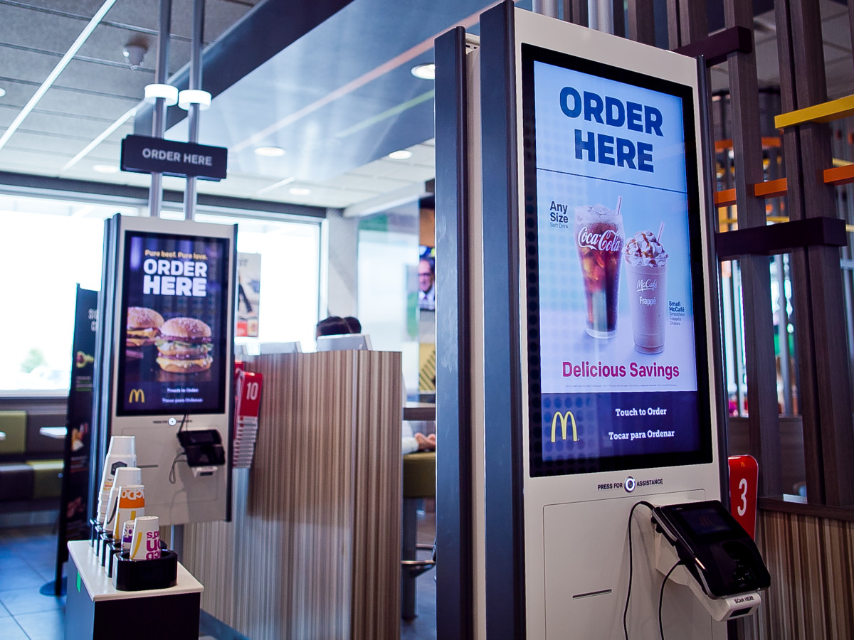 Houston, McDonald's Experience of the Future in Katy, June 2017, kiosks