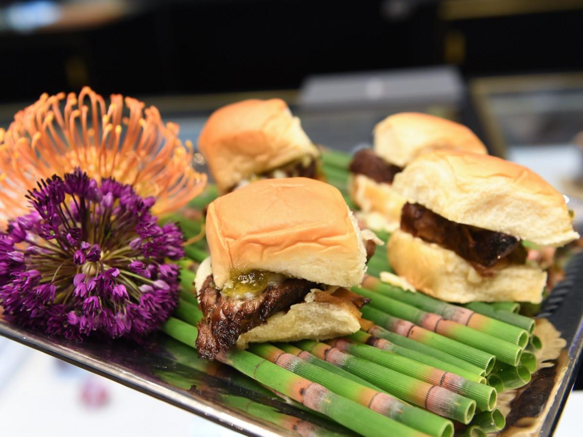 Sliders from Caswell & Co at Guy's Night Out party at IW Marks Jewelers