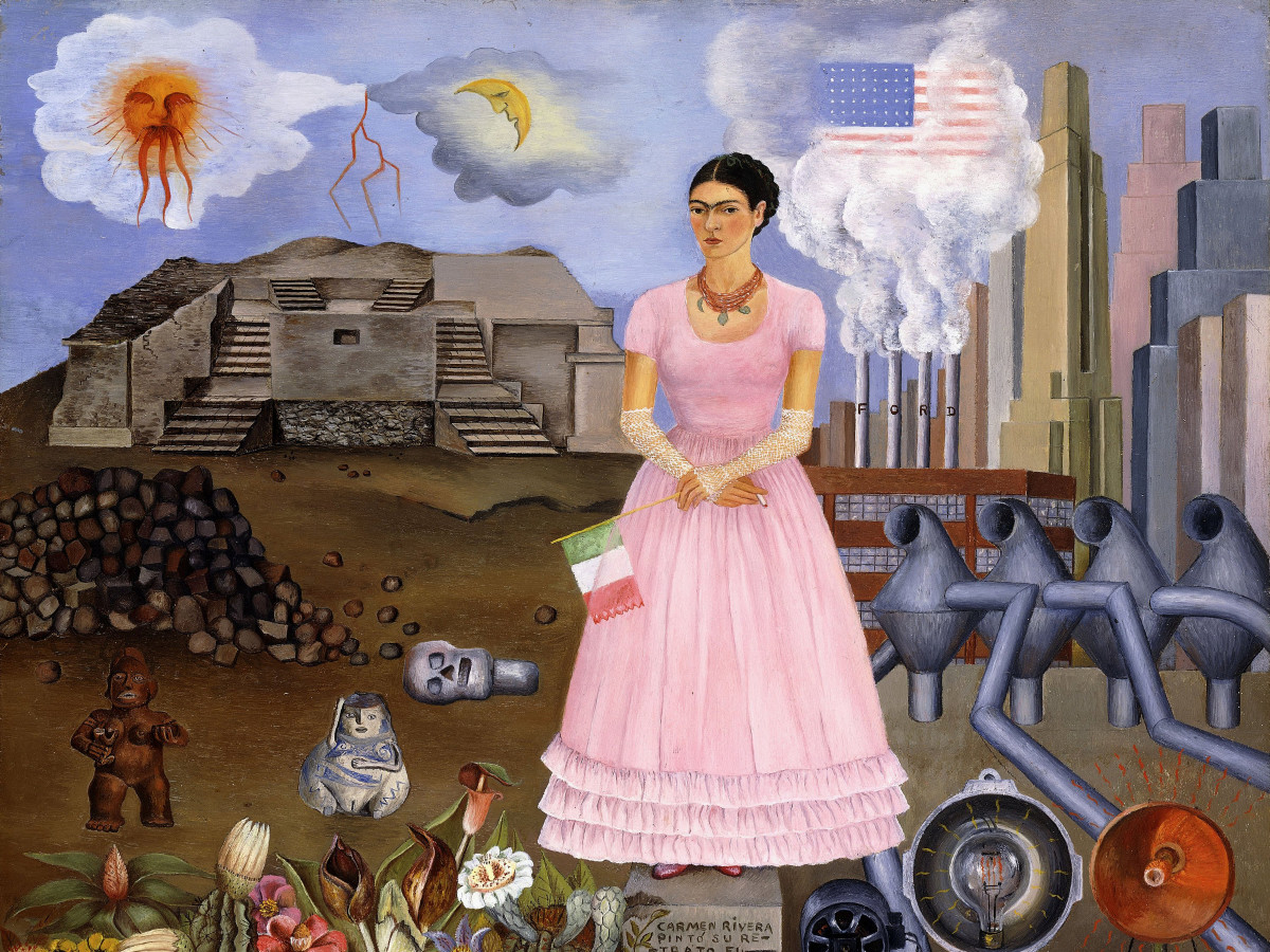 Paint the Revolution: Mexican Modernism, 1910–1950:Frida Kahlo, Self Portrait on the Border Line between Mexico and the United States, 1932