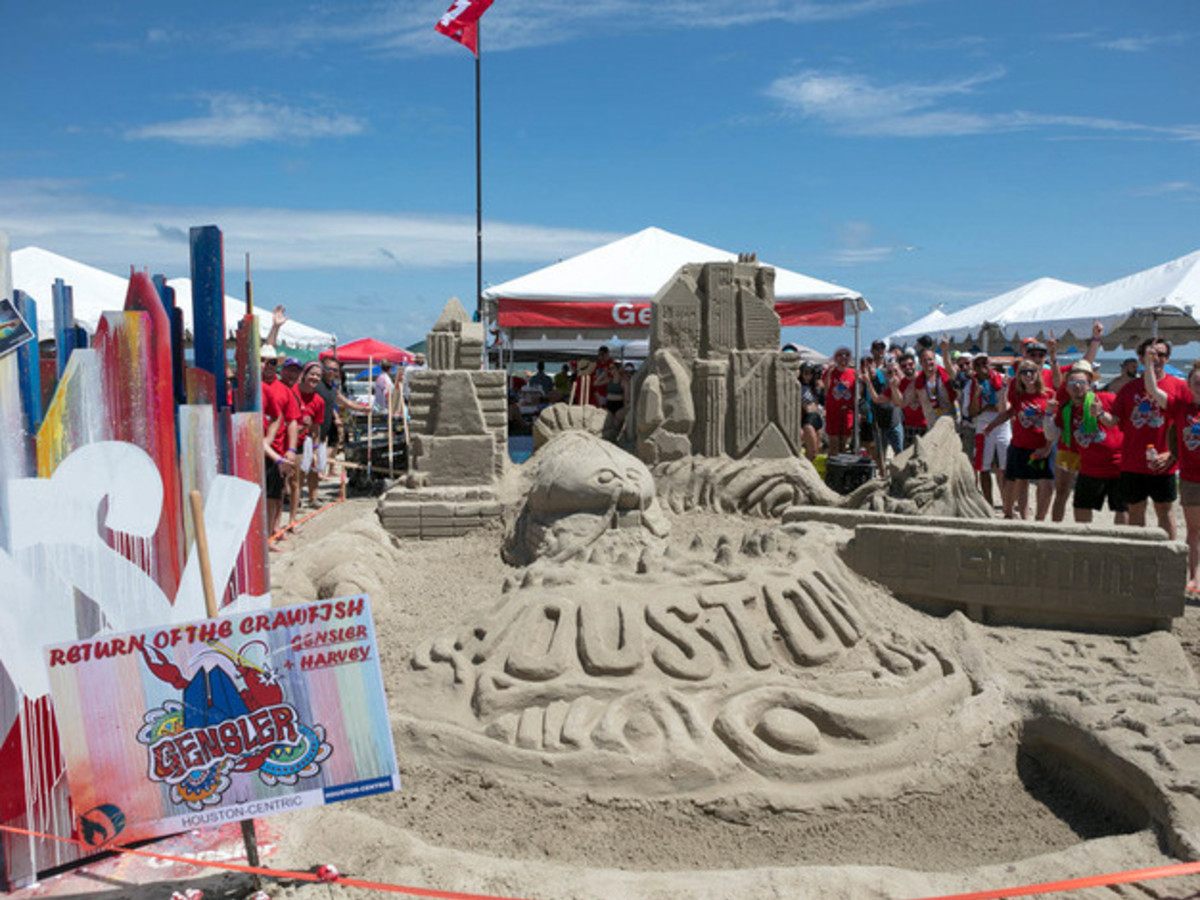 Houston, Houzz series, June 2017, Sandcastle contest, Return of the Crawfish