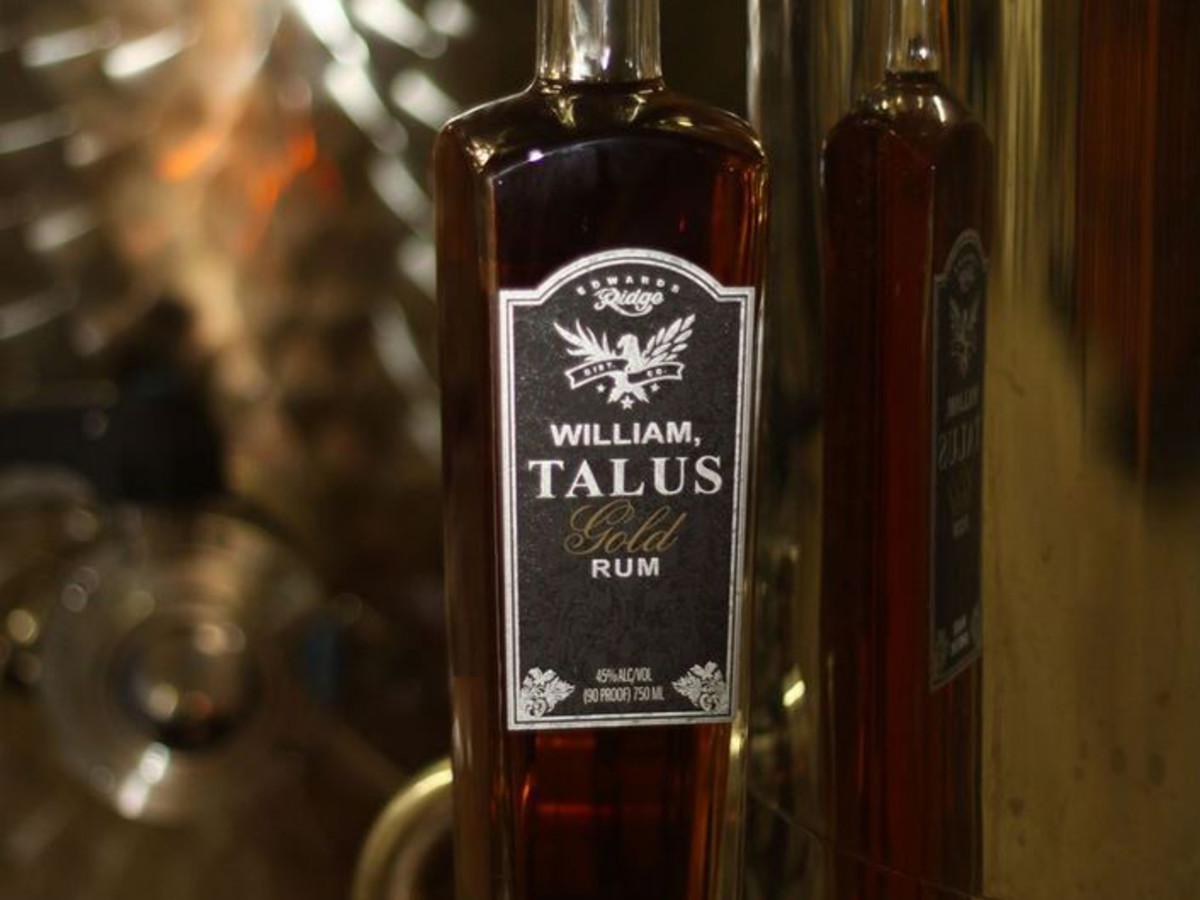 Edwards Ridge Distillery William Talus Gold Rum
