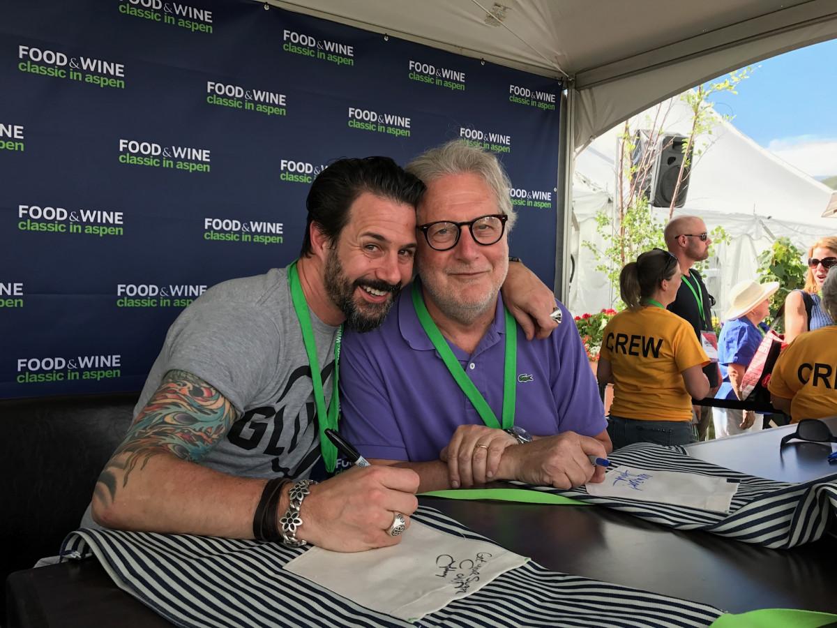 Jonathan Waxman and Johnny Iuzzini at Aspen Food & Wine festival