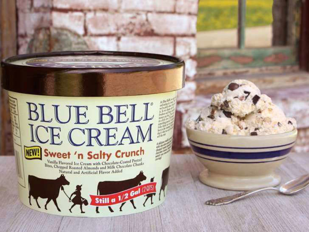 Houston, Blue Bell Ice Cream, Sweet 'n Salty Crunch, July 2017