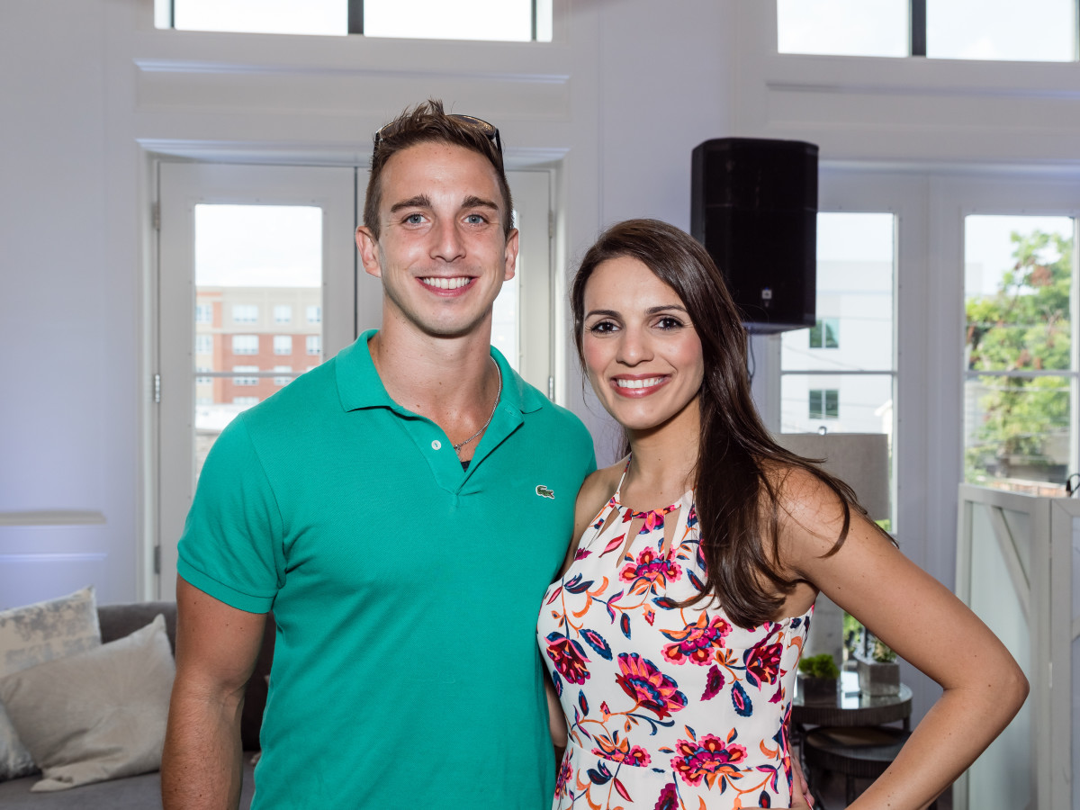 Houston, Carnegie Homes event, July 2017, Martina Albino, Theo Gaithanaros