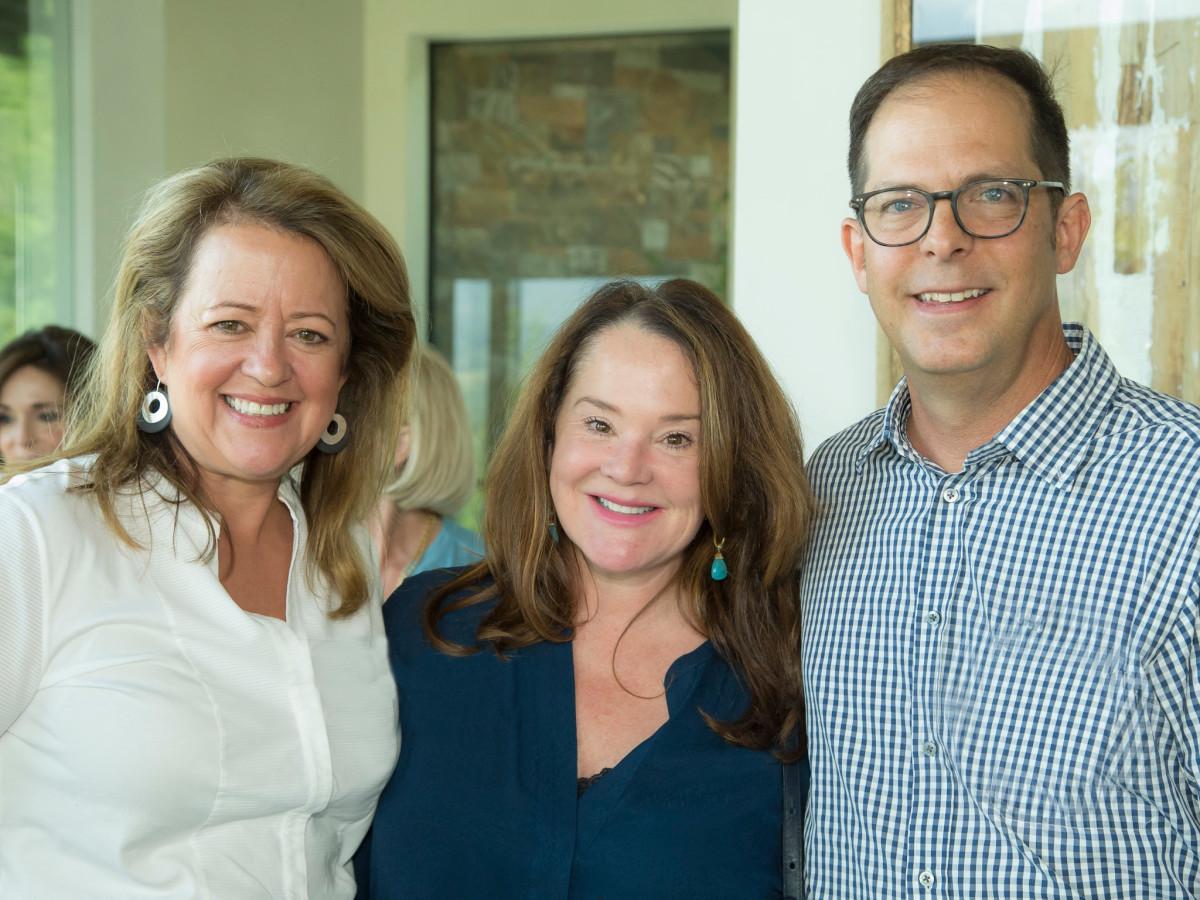 Houston Methodist in Aspen, July 2017, Claire Dewar, Lisa Kopecky and Dr. Jeremy Finkelstein