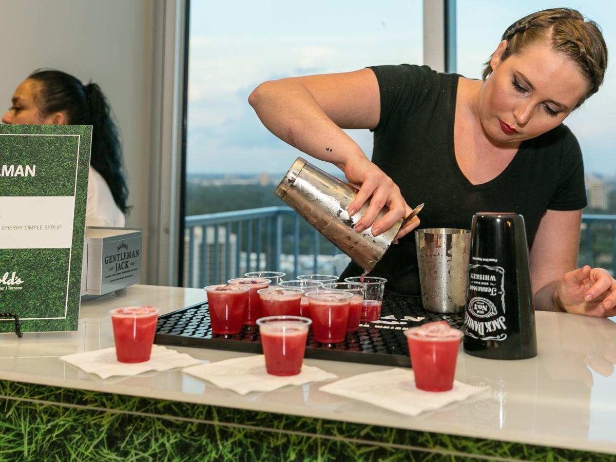 Bartender Julia Tillman at CultureMap Country Club Social