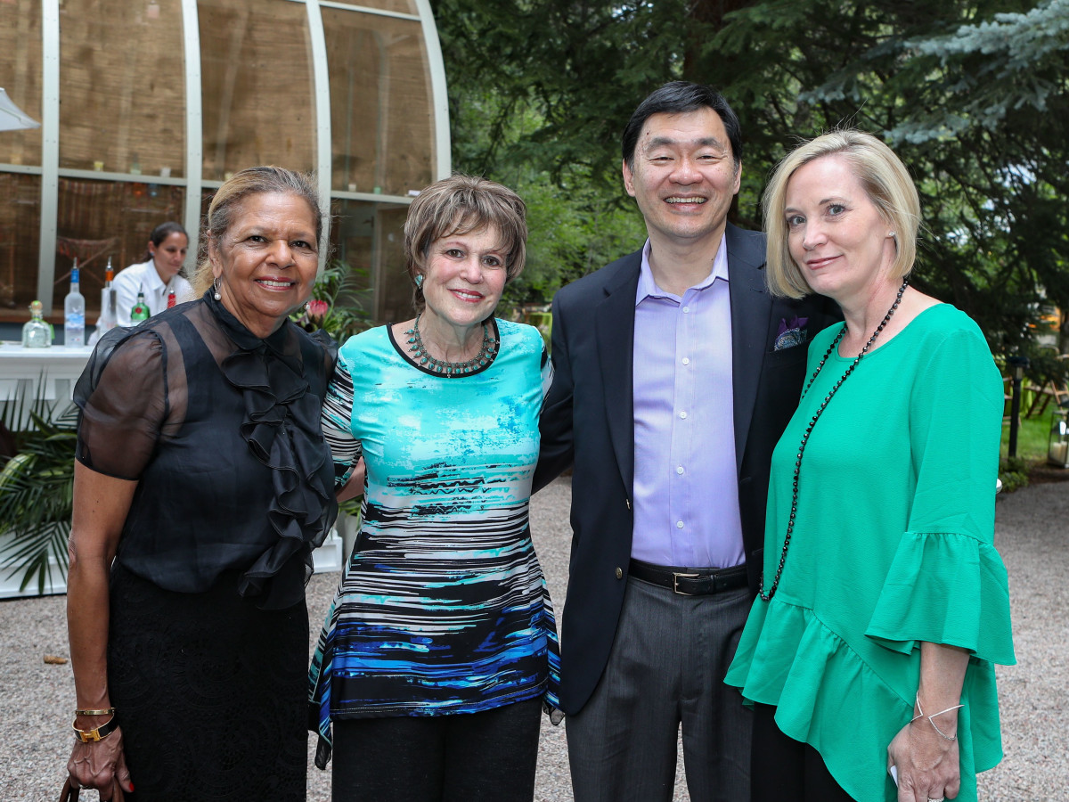 Dr. Yvonne Cormier, Regina Rogers, Dr. Patrick Hwu, Katie Hwu at MD Anderson Hines Aspen