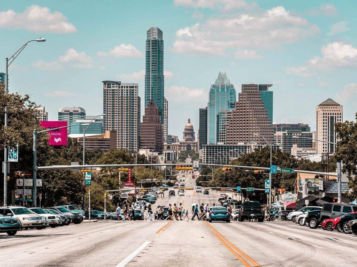 South Congress Avenue Soco Austin skyline