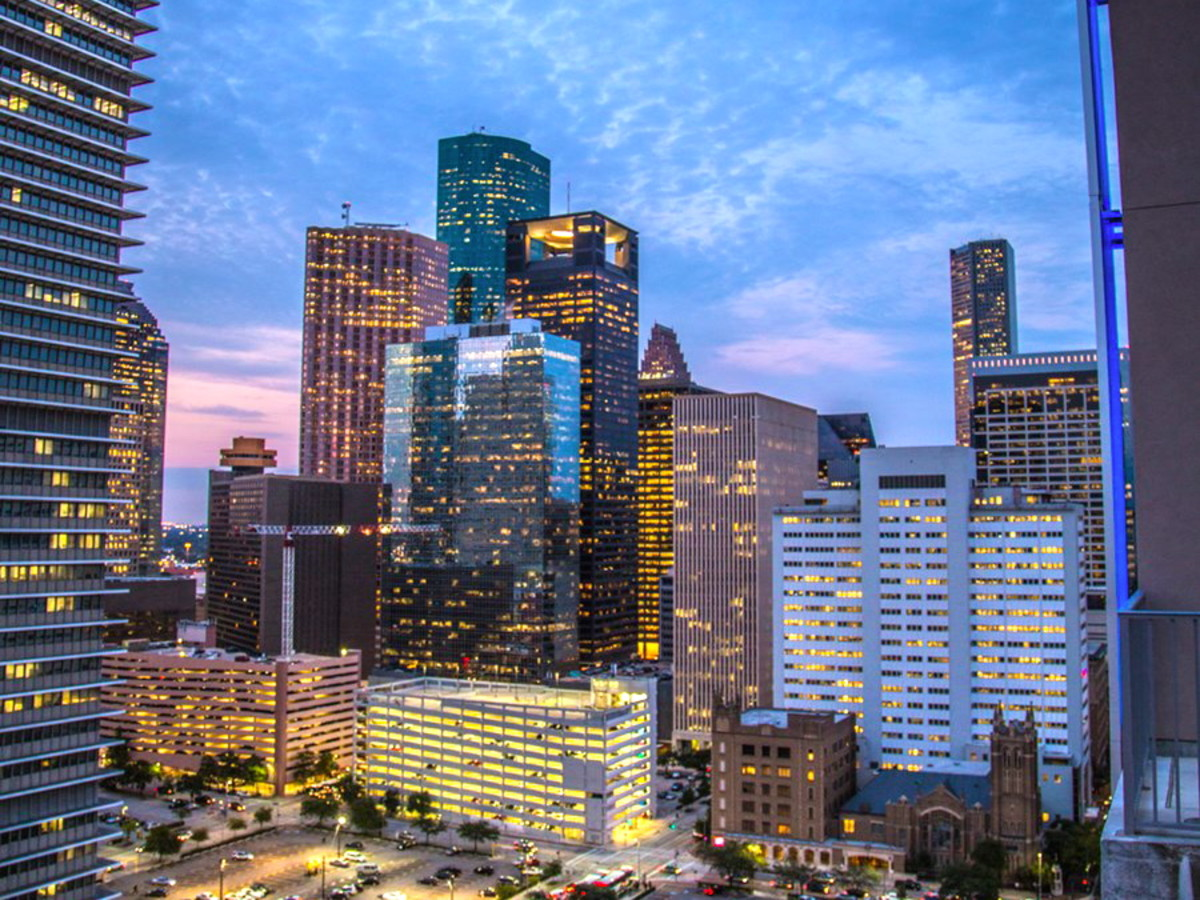 Houston, Highrise apartment views_May 2015, Skyhouse Houston