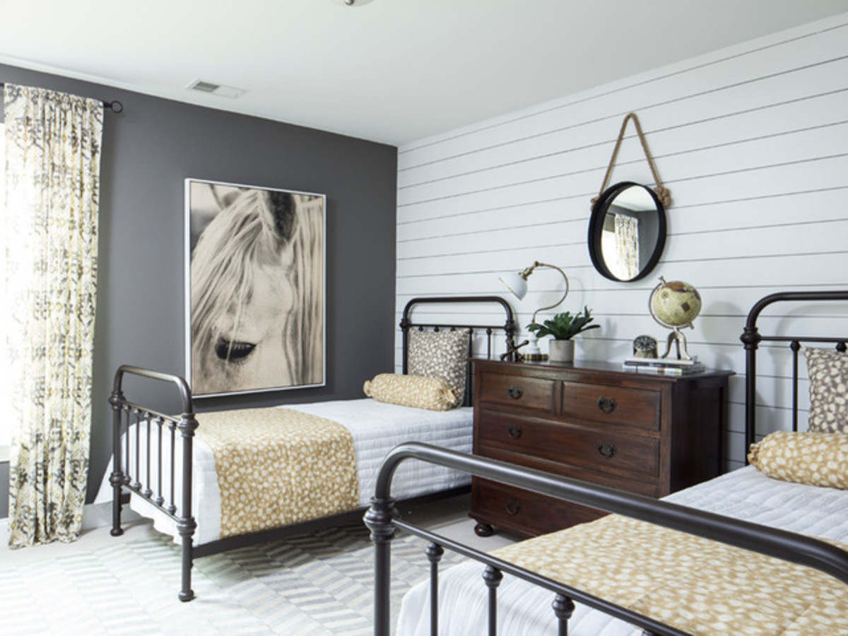 Shiplap in a bedroom