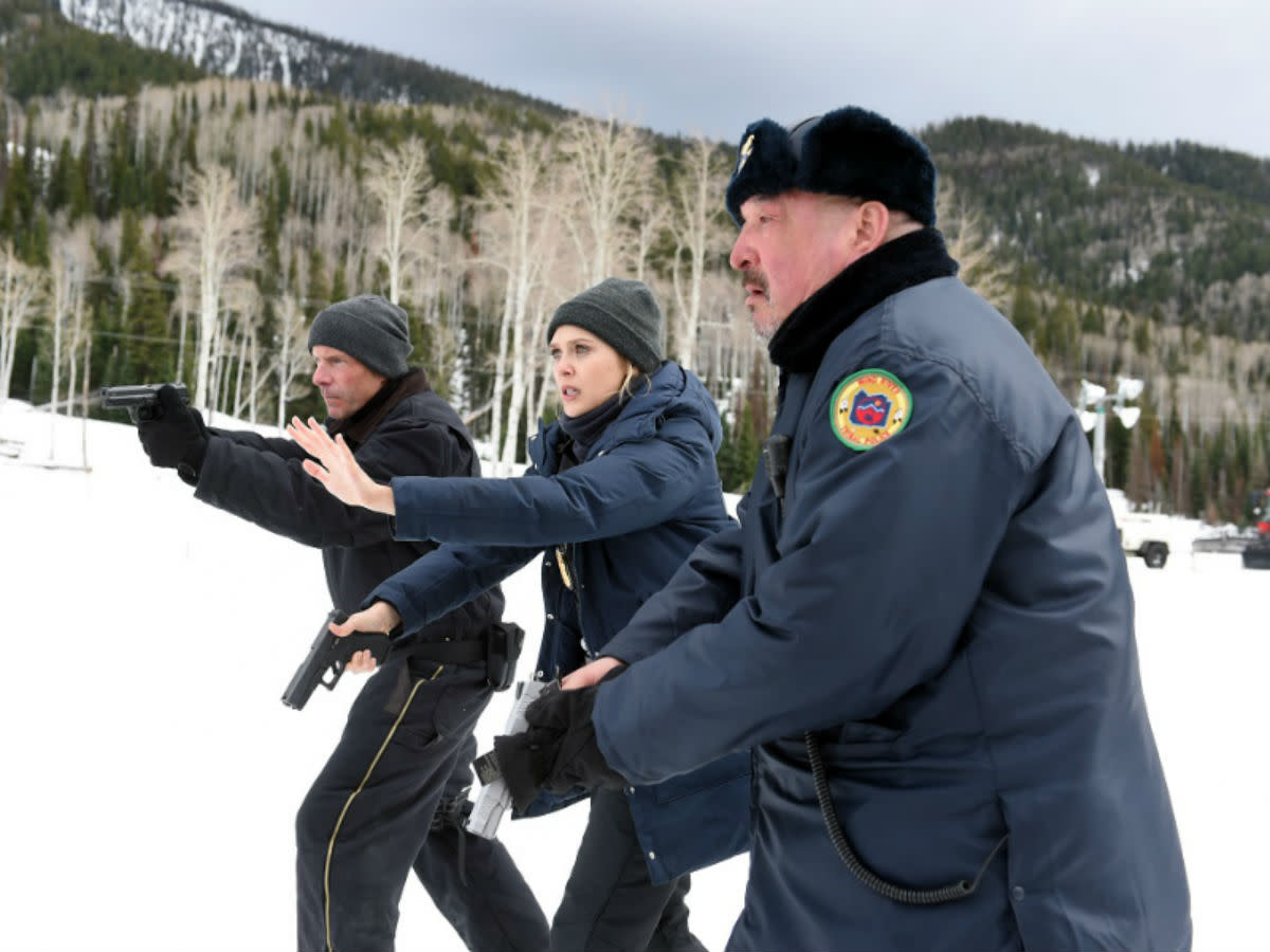 Hugh Dillon, Elizabeth Olsen and Graham Greene star in Wind River