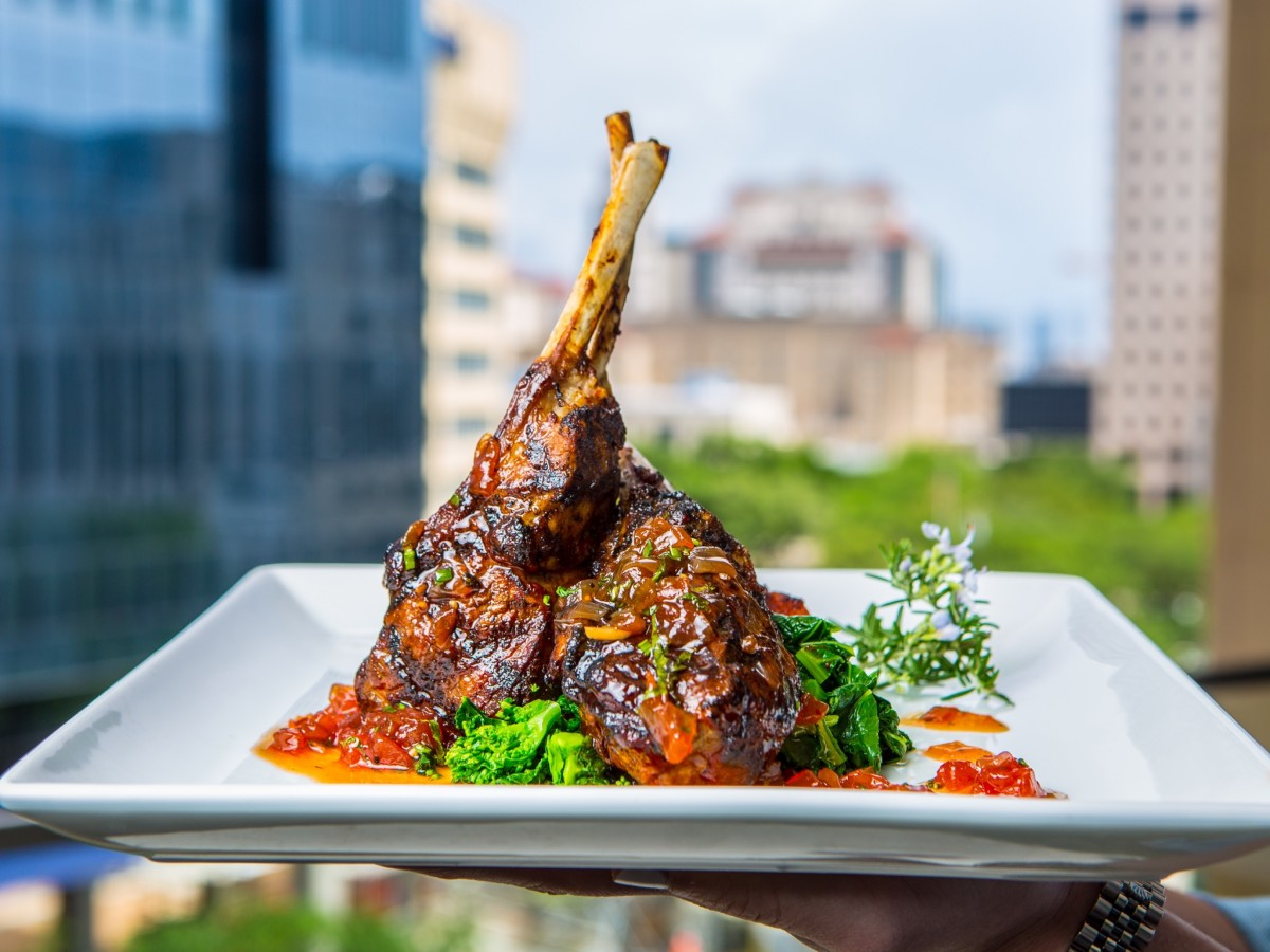 Third Coast Harissa-roasted lamb chops