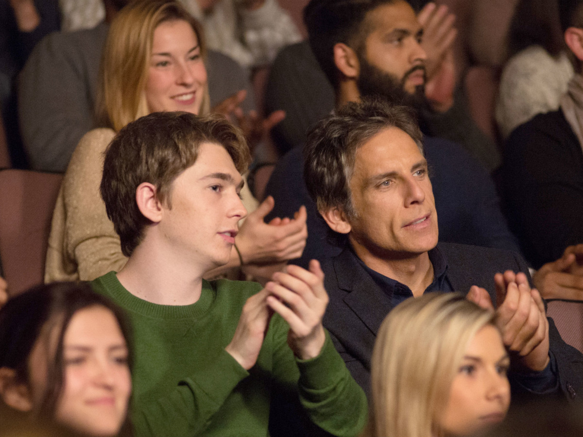 Austin Abrams and Ben Stiller in Brad's Status