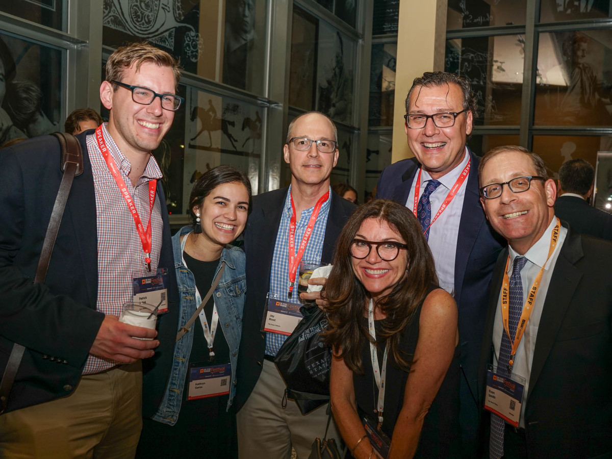 Texas Tribune Festival 2017 VIP Party at Harry Ranson Center Patrick Svitek Kathryn Garza Jay Root James Henson Kathy Grant Evan Smith