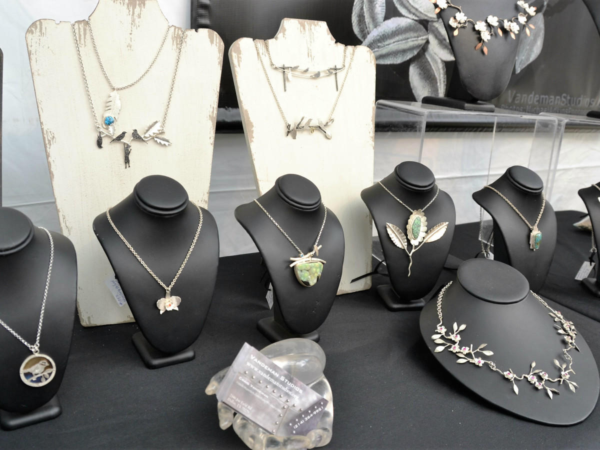 Jewelry at Huffhines Art Trails
