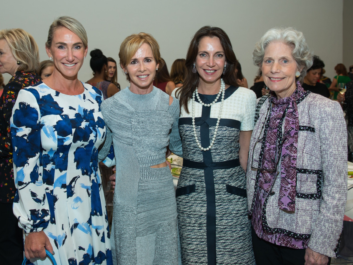 Courtney Lanier Sarofim, Martha Long, Ailya Stude, Beth Robertson at Oscar de la Renta fashion show at MFAH