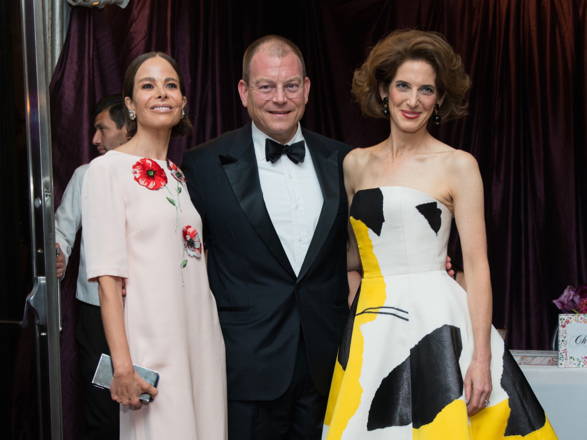 Allison Sarofim, Alex Bolen, Eliza Bolen at MFAH Grand Gala Ball 2017