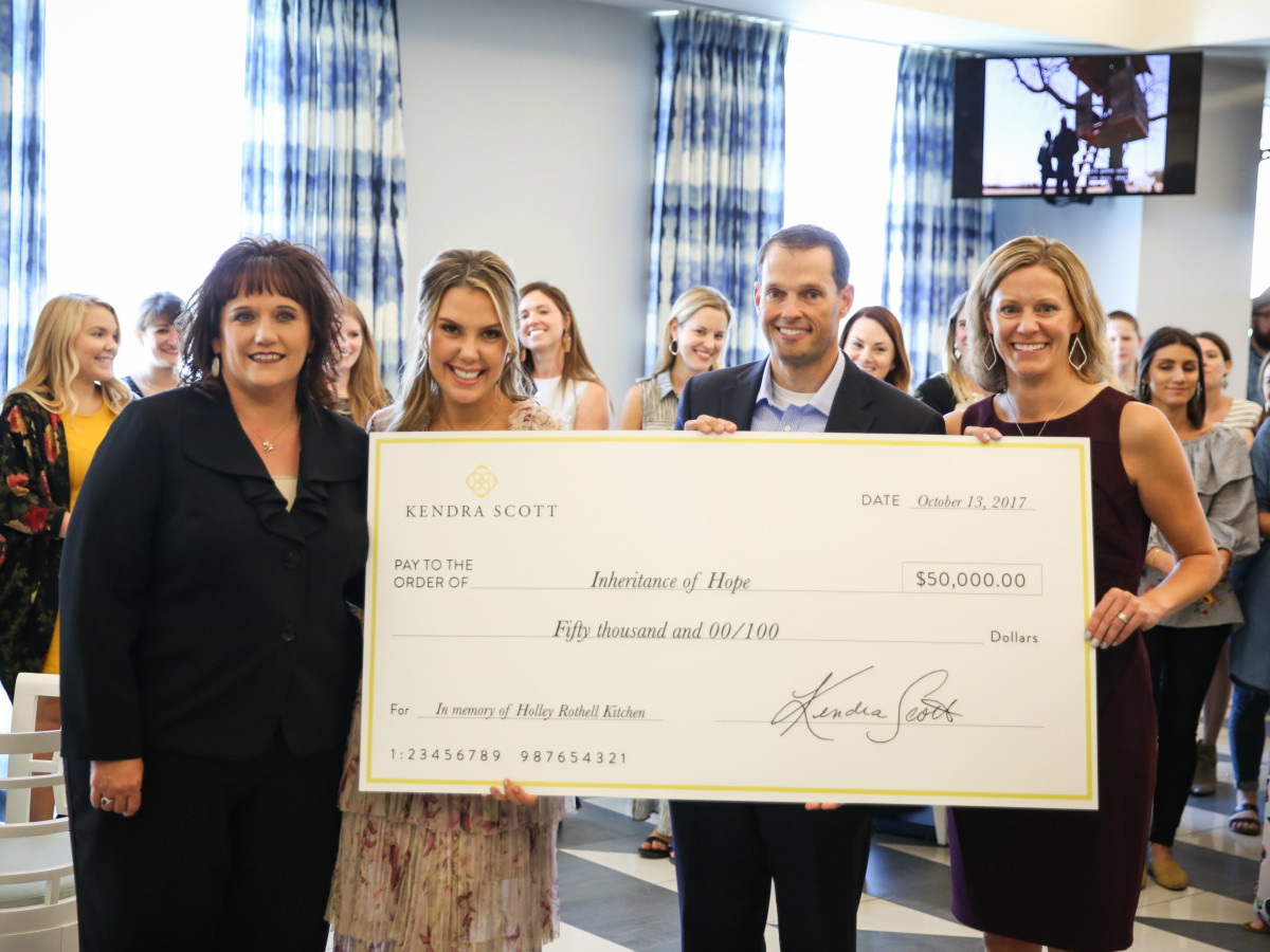 Kendra Scott charity check presentation