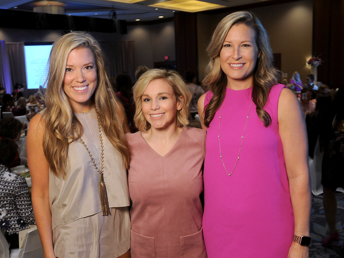 Memorial Hermann Razzle Dazzle luncheon, Holly Alvis, Stacy Johnson, Bethany Buchanan