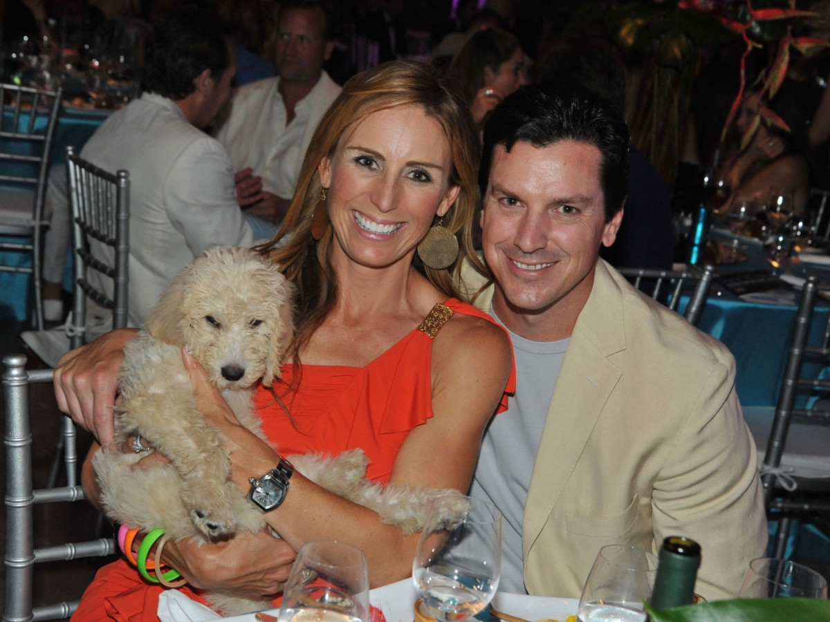 Labradoodle bid winners Brooke and Jeff Gunst at Miami Vice Children's Museum Gala