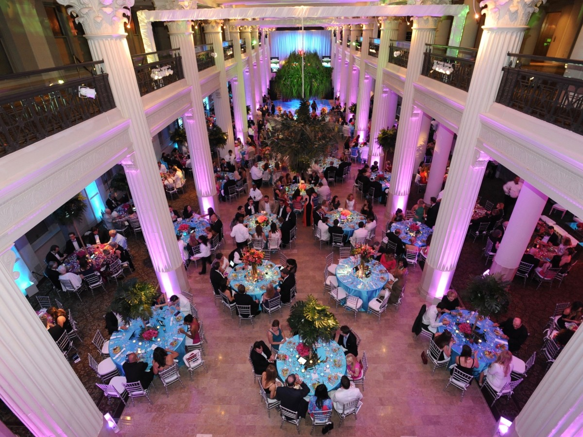 Decor at Miami Vice Children's Museum Gala
