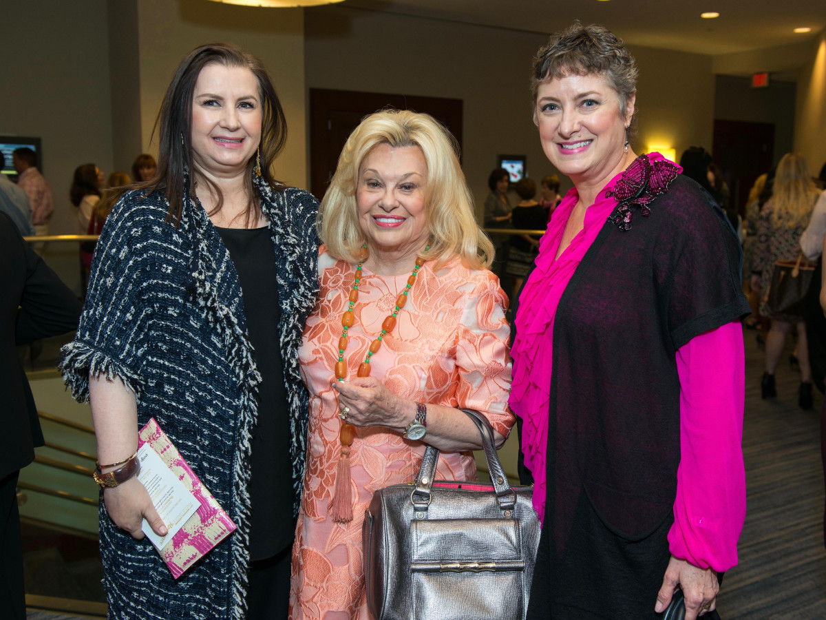 Sylvia Forsythe, Sidney Faust, Tamara Bonner at Memorial Hermann Razzle Dazzle luncheon