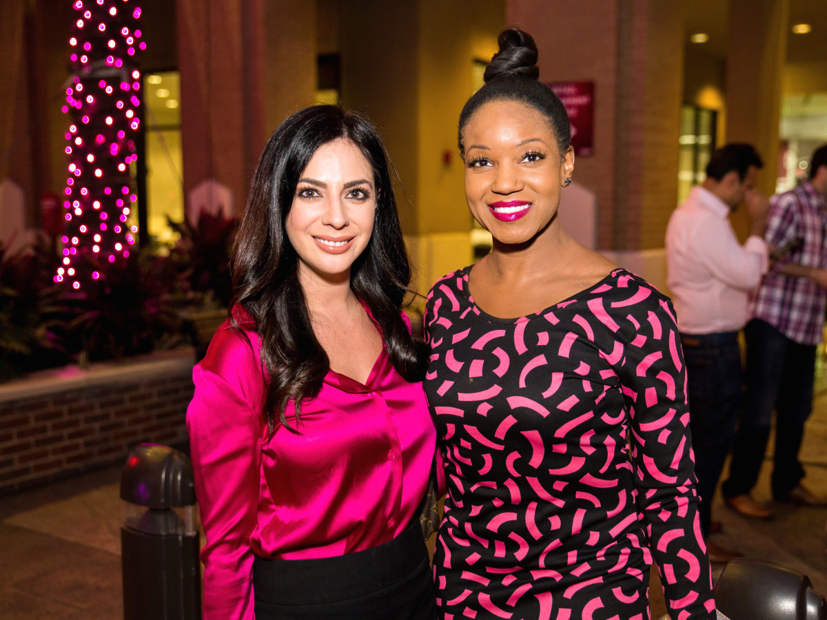Houston, Marcy, West Ave Pink Party, October 2017, Corinne Cameron, Tiffany Johnson