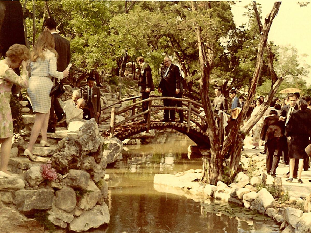 Isamu Taniguchi Japanese Gardens opening