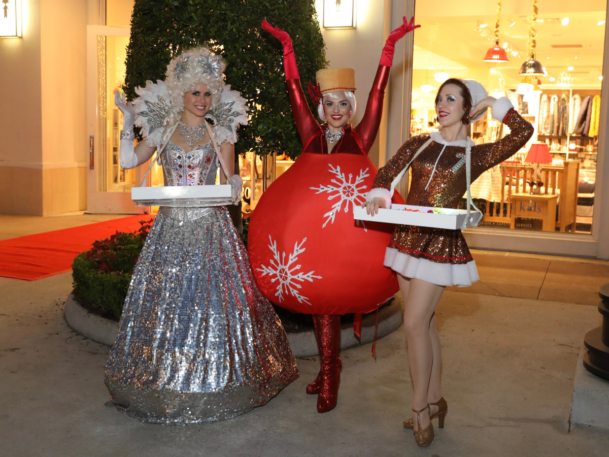 Costume characters at Holiday Shopping Card