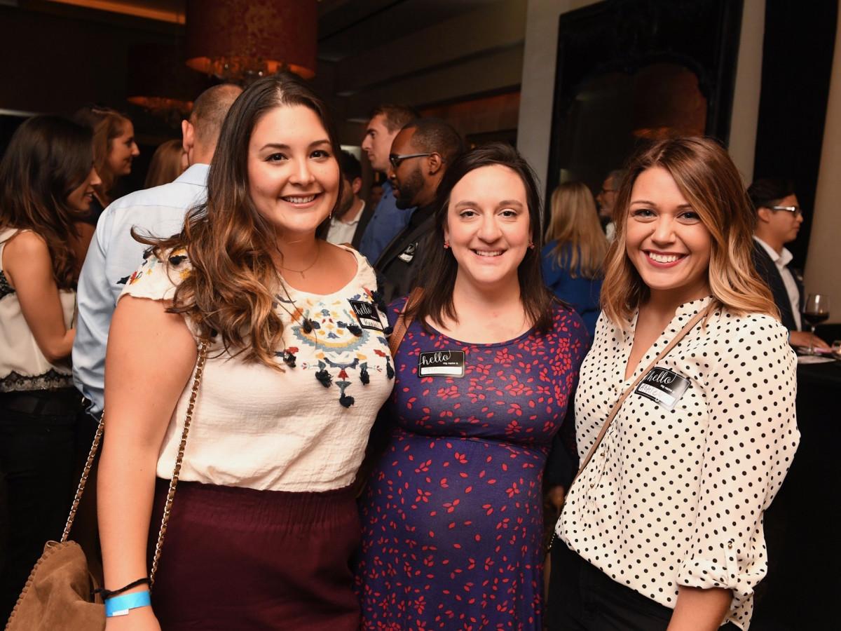 Raquel Garcia, Tina Kelsy, Ashley LaRock at YHHCC Fall Mixer