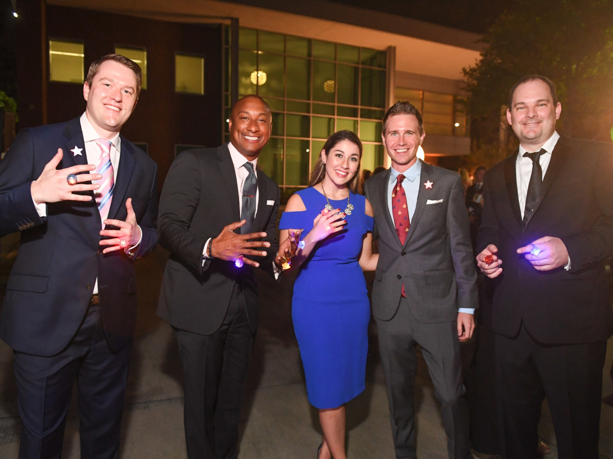 Kris Branam, Troy Clendenin, Jillian Bricher, Mark Bricher, Jason Osberg at Dress for Success Cuisine for Cause