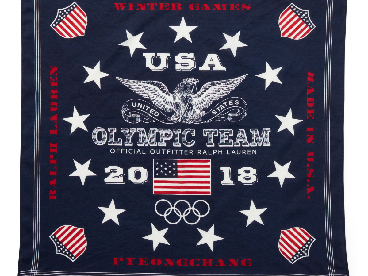 Winter Olympics 2018 closing ceremony outfits Team USA Ralph Lauren bandana