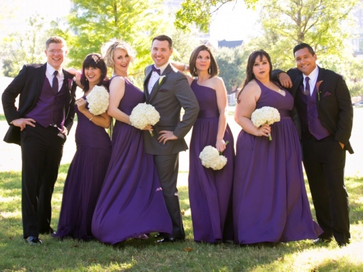 Upshaw Wedding, bridal party
