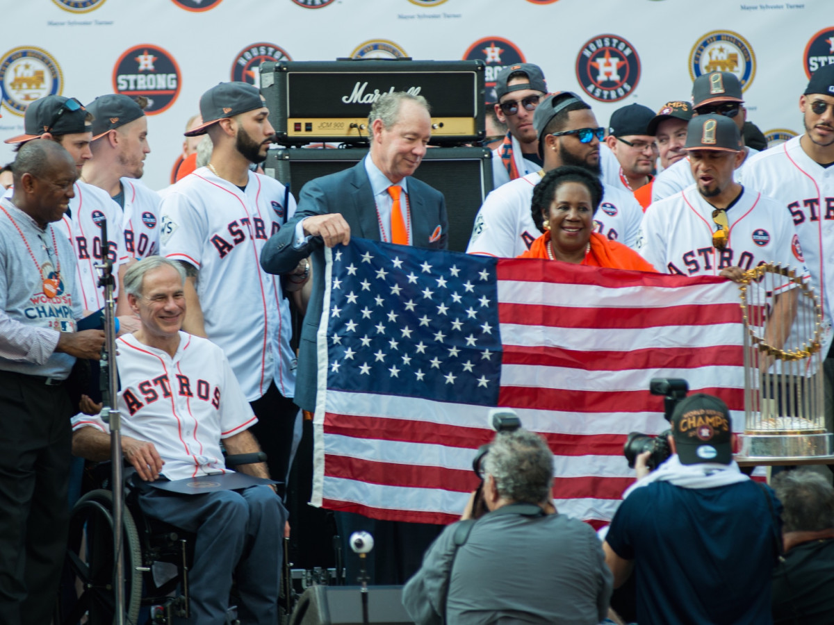 Astros World Series victory parade and rally, politicians