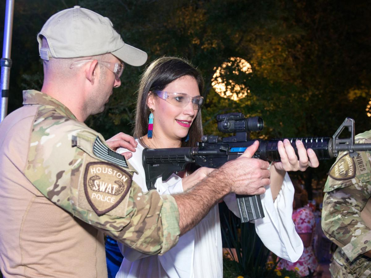 Houston, True Blue Gala, November 2017, Houston Police SWAT officer Austin Huckabee, Jamie Patton