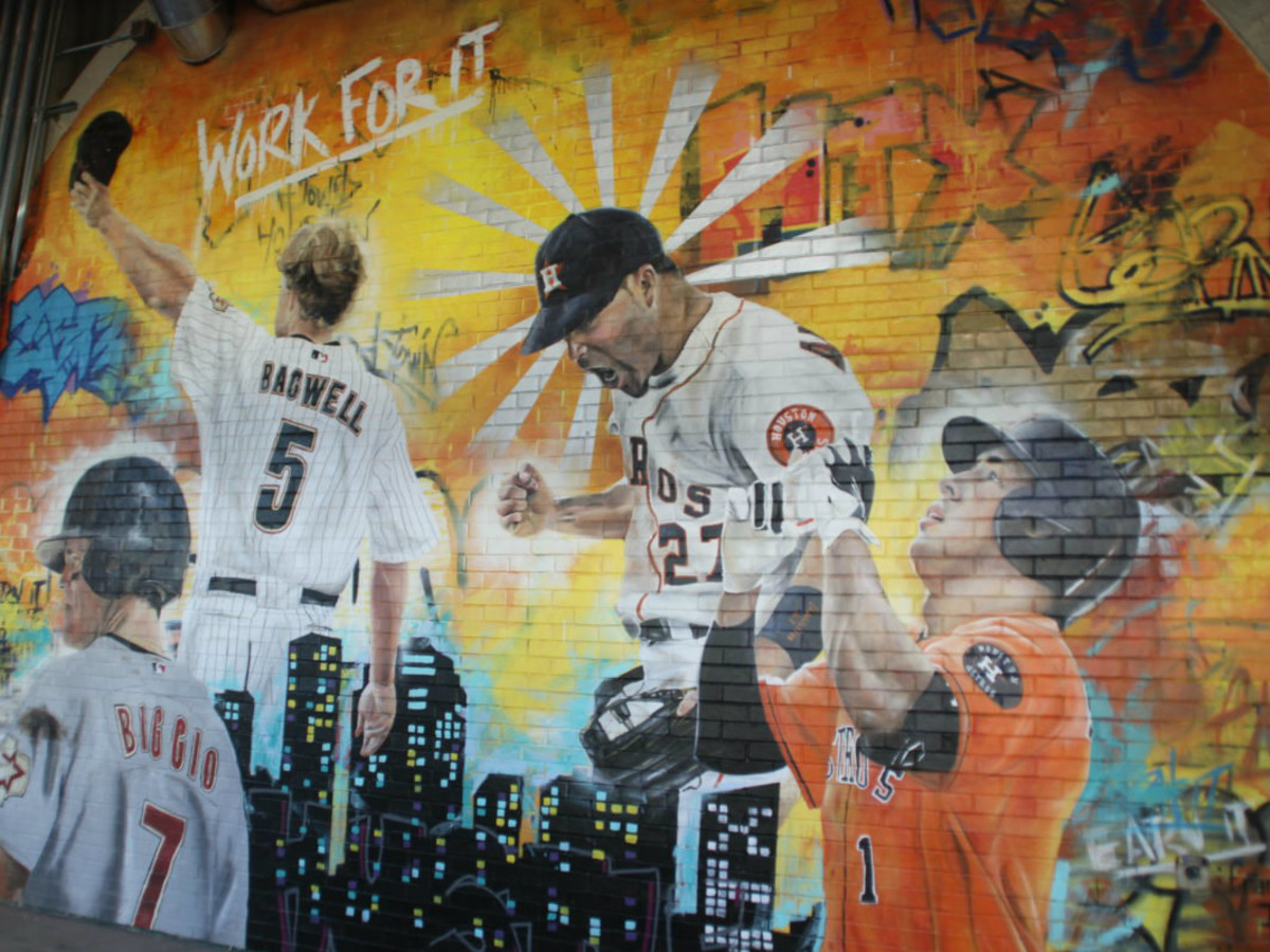 Houston Astros mural at Minute Maid Park