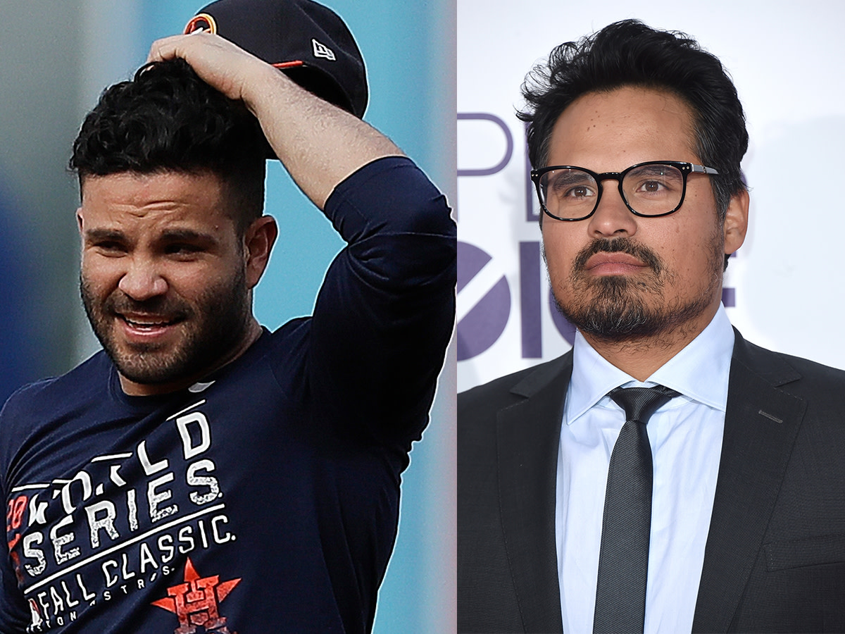 Houston, Astros Jose Altuve and Michael Pena lookalikes, November 2017