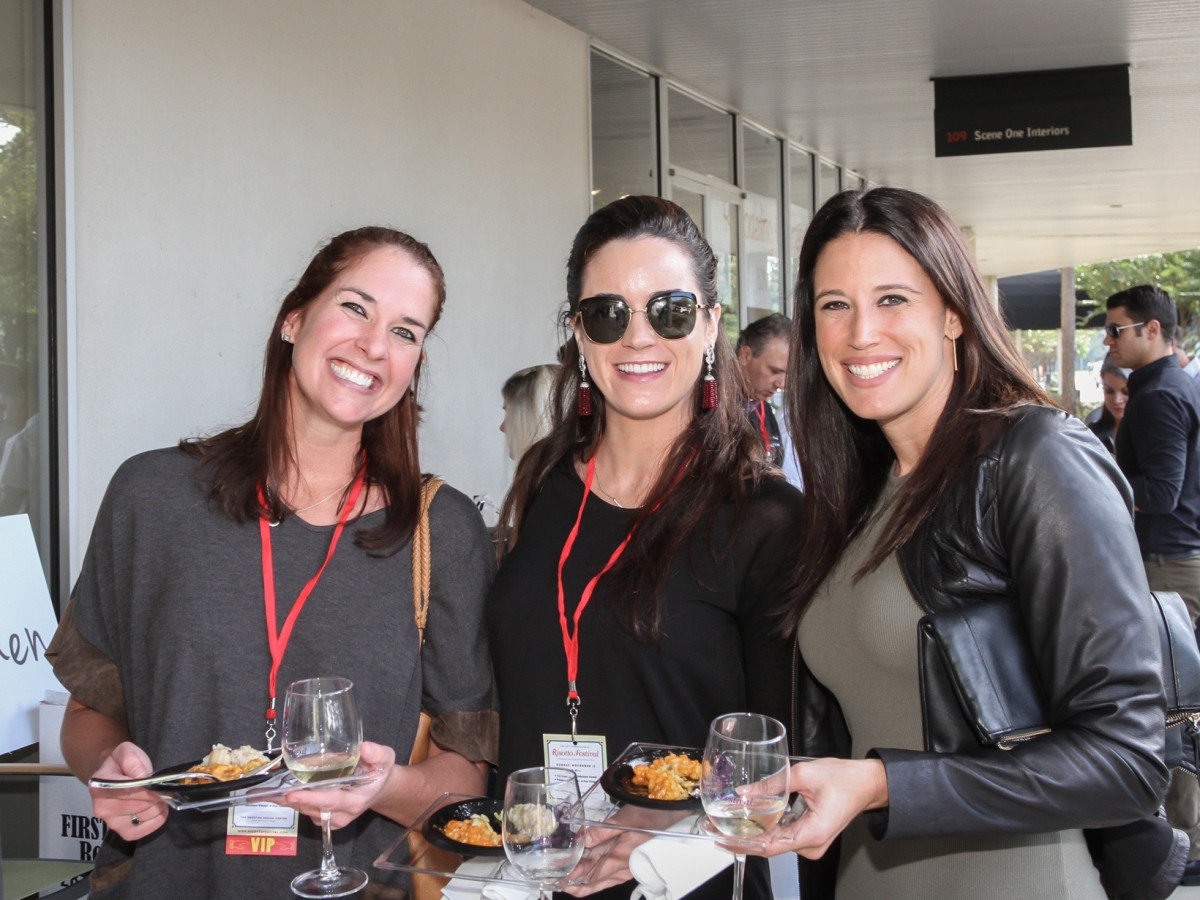 Jennie Simmons, Elizabeth Corey, Stephanie Taylor at Risotto Festival