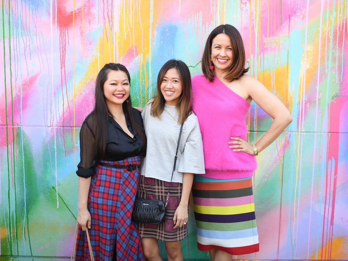 Chloe Dao, Issa Chou, Carrie Colbert at More Color Please launch