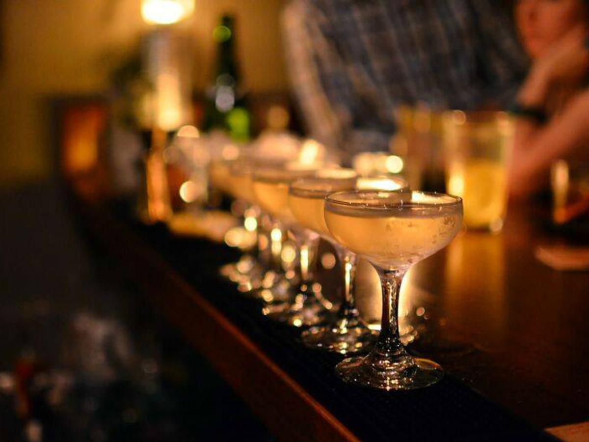 Blue Box Bar cocktails